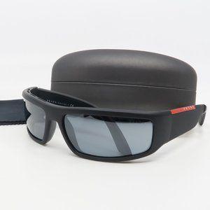SPR 02U 1BO-5L0 Prada Matte Black/ Gray Wrap Sun